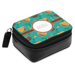 Coconut Drinks Small Leatherette Travel Pill Case (Personalized)