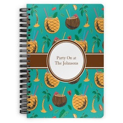 Coconut Drinks Spiral Bound Notebook (Personalized)