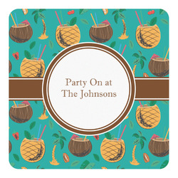 Coconut Drinks Square Decal - Custom Size (Personalized)