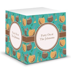 Coconut Drinks Sticky Note Cube (Personalized)