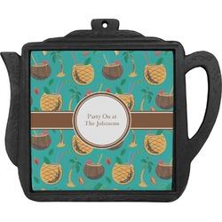 Coconut Drinks Teapot Trivet (Personalized)