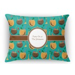 Coconut Drinks Rectangular Throw Pillow Case (Personalized)