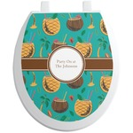 Coconut Drinks Toilet Seat Decal (Personalized)