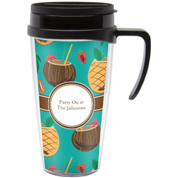 Coconut Drinks Travel Mug with Handle (Personalized)