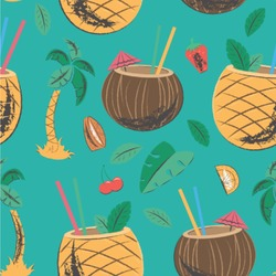 Coconut Drinks Wallpaper & Surface Covering