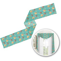 Coconut Drinks Window Sheer Scarf Valance (Personalized)