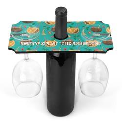 Coconut Drinks Wine Bottle & Glass Holder (Personalized)
