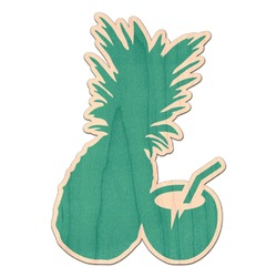 Coconut Drinks Genuine Wood Sticker (Personalized)