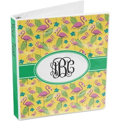 Pink Flamingo 3-Ring Binder (Personalized)