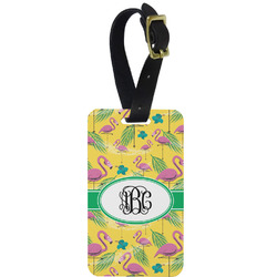 Pink Flamingo Aluminum Luggage Tag (Personalized)
