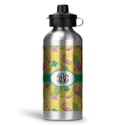 Pink Flamingo Water Bottle - Aluminum - 20 oz (Personalized)