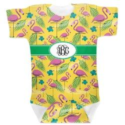 Pink Flamingo Baby Bodysuit 6-12 (Personalized)