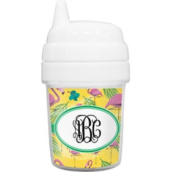 Pink Flamingo Baby Sippy Cup (Personalized)