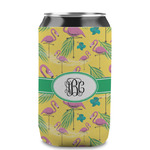Pink Flamingo Can Sleeve (12 oz) (Personalized)