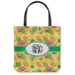 "Pink Flamingo Canvas Tote Bag - Small - 13""x13"" (Personalized)"