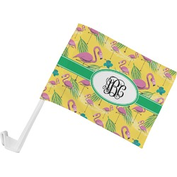 Pink Flamingo Car Flag (Personalized)