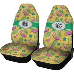 Pink Flamingo Car Seat Covers (Set of Two) (Personalized)
