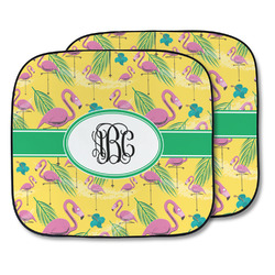 Pink Flamingo Car Sun Shade - Two Piece (Personalized)