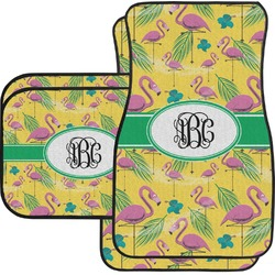 Pink Flamingo Car Floor Mats (Personalized)