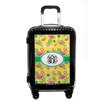 Pink Flamingo Carry On Hard Shell Suitcase (Personalized)