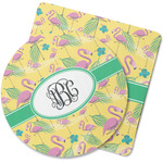Pink Flamingo Rubber Backed Coaster (Personalized)