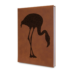 Pink Flamingo Leatherette Journal (Personalized)