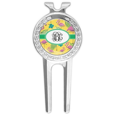 Pink Flamingo Golf Divot Tool & Ball Marker (Personalized)