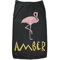 Pink Flamingo Black Pet Shirt - XL (Personalized)