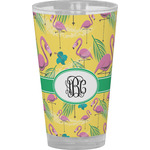 Pink Flamingo Drinking / Pint Glass (Personalized)