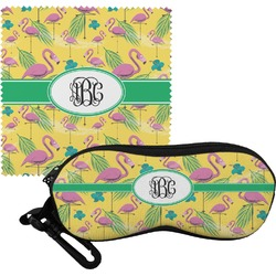Pink Flamingo Eyeglass Case & Cloth (Personalized)