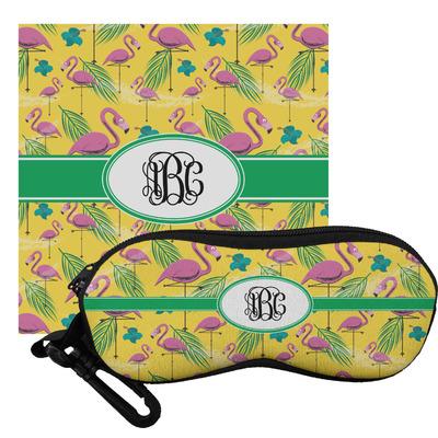 Pink Flamingo Eyeglass Case & Cloth (Personalized)