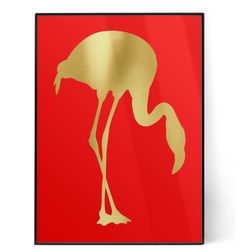 Pink Flamingo 5x7 Red Foil Print (Personalized)