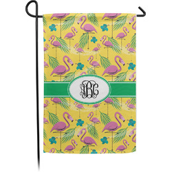 Pink Flamingo Garden Flag - Single or Double Sided (Personalized)