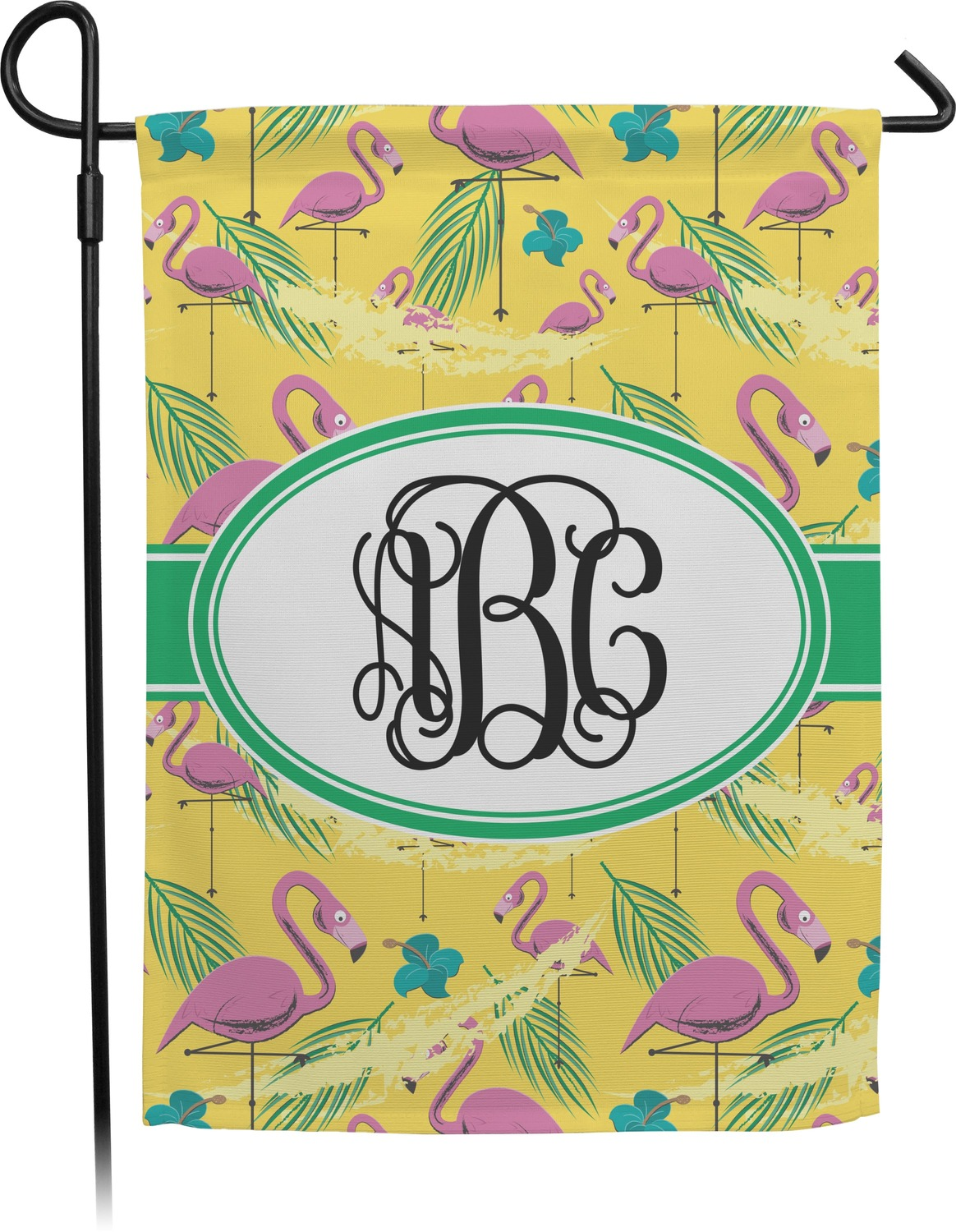 Pink Flamingo Garden Flag Personalized RNK Shops