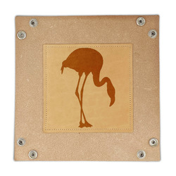 Pink Flamingo Genuine Leather Valet Tray (Personalized)