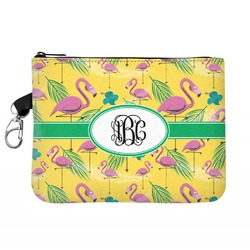Pink Flamingo Zip ID Case (Personalized)