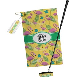Pink Flamingo Golf Towel Gift Set (Personalized)