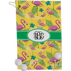Pink Flamingo Golf Towel - Full Print (Personalized)