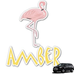 Pink Flamingo Graphic Car Decal (Personalized)
