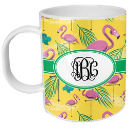 Pink Flamingo Plastic Kids Mug (Personalized)