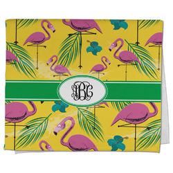 Pink Flamingo Kitchen Towel - Full Print (Personalized)