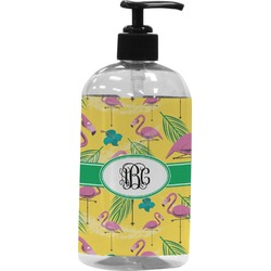 Pink Flamingo Plastic Soap / Lotion Dispenser (Personalized)
