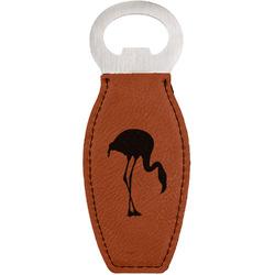 Pink Flamingo Leatherette Bottle Opener (Personalized)