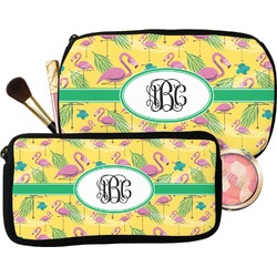 Pink Flamingo Makeup / Cosmetic Bag (Personalized)