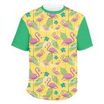 Pink Flamingo Men's Crew T-Shirt (Personalized)