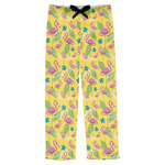Pink Flamingo Mens Pajama Pants (Personalized)