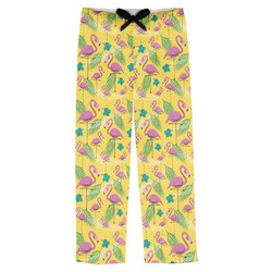 Pink Flamingo Mens Pajama Pants (Personalized)