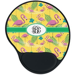 Pink Flamingo Mouse Pad with Wrist Support