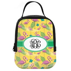 Pink Flamingo Neoprene Lunch Tote (Personalized)