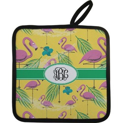 Pink Flamingo Pot Holder (Personalized)